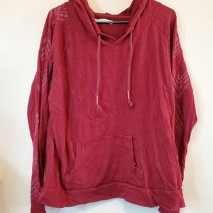 Red long sleeve with hood